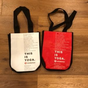 Lululemon this is yoga small tote bags lot of 2!